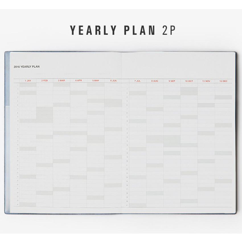 Yearly plan - 2016 Table talk B6 dated monthly planner