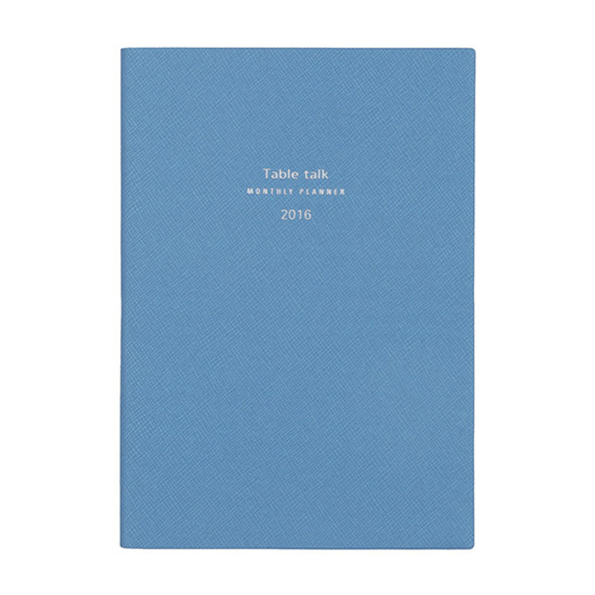 Ice blue - 2016 Table talk B6 dated monthly planner