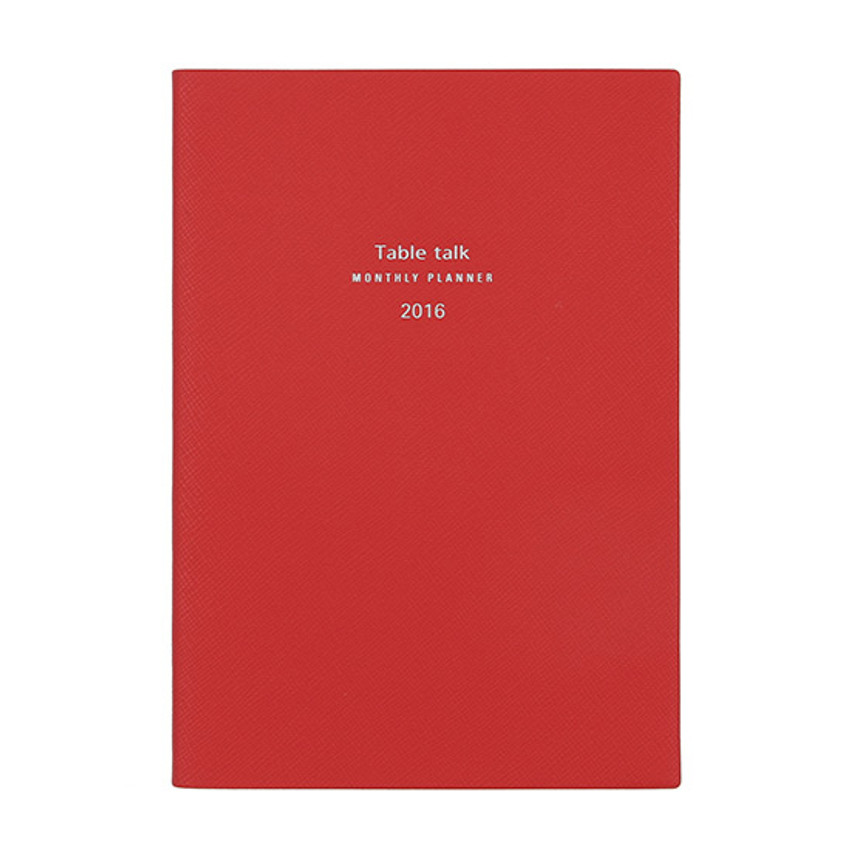 Scarlet red - 2016 Table talk B6 dated monthly planner