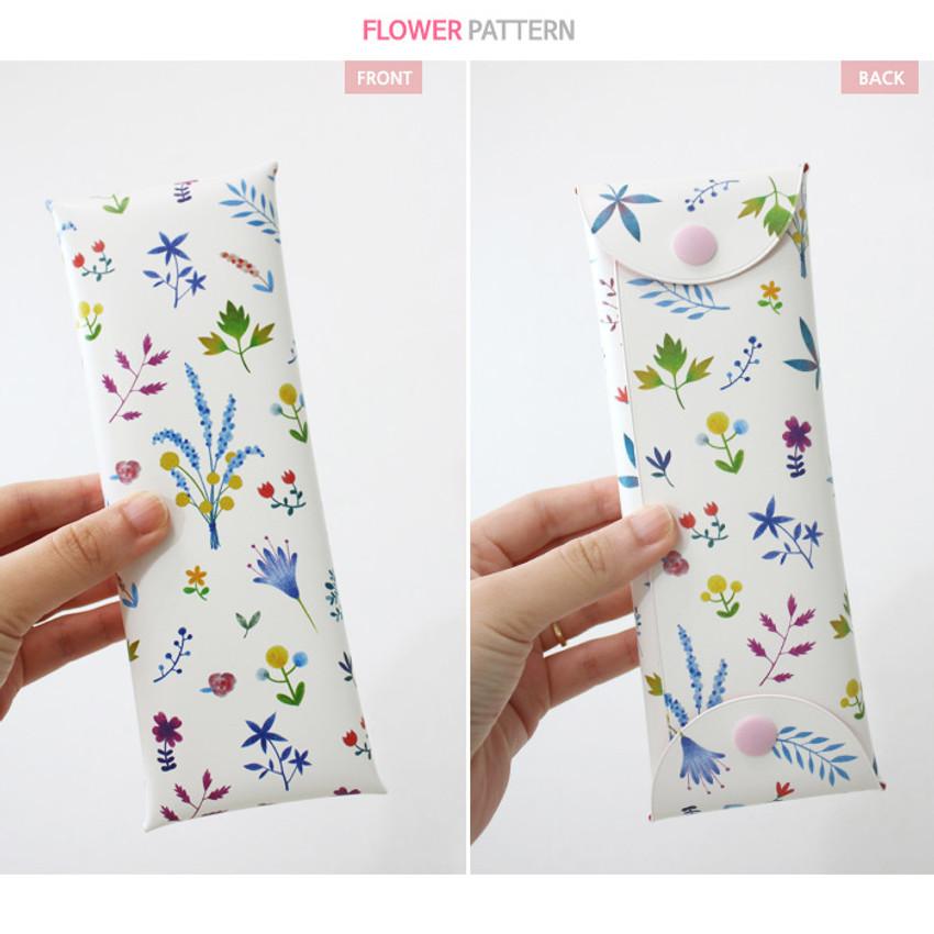 Flower - Cactus flower pattern folding pencil case