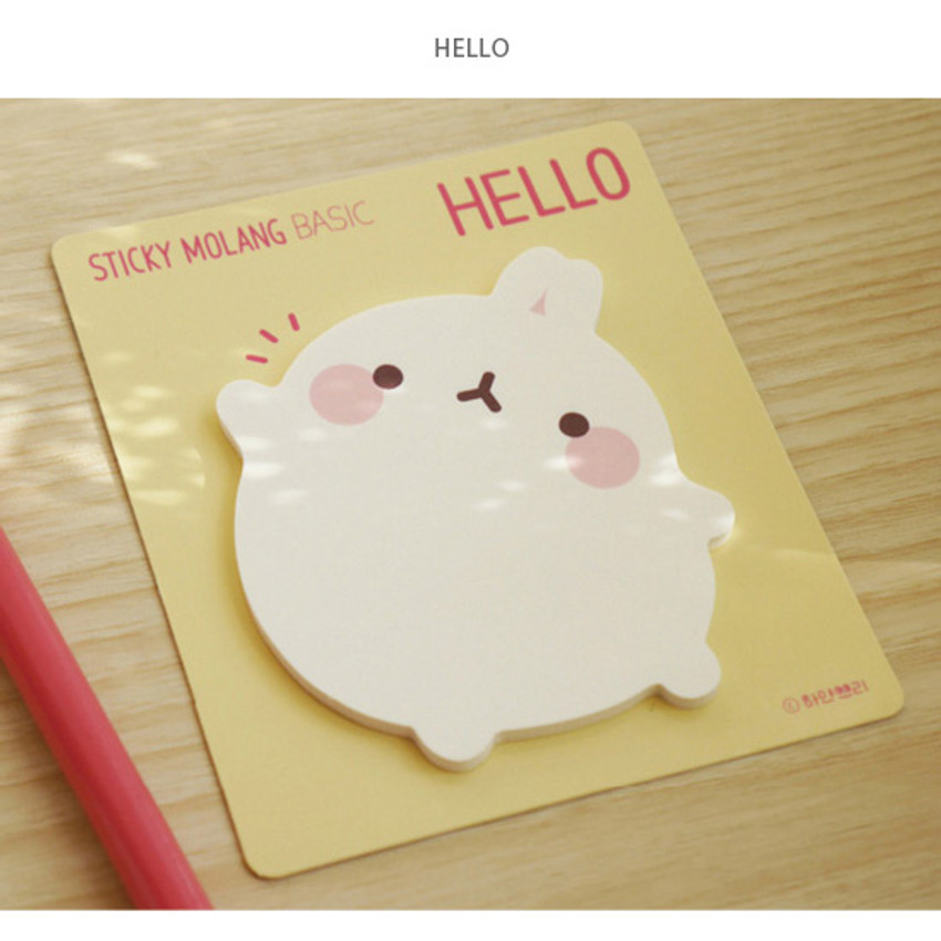 Hello - Molang basic cute sticky note