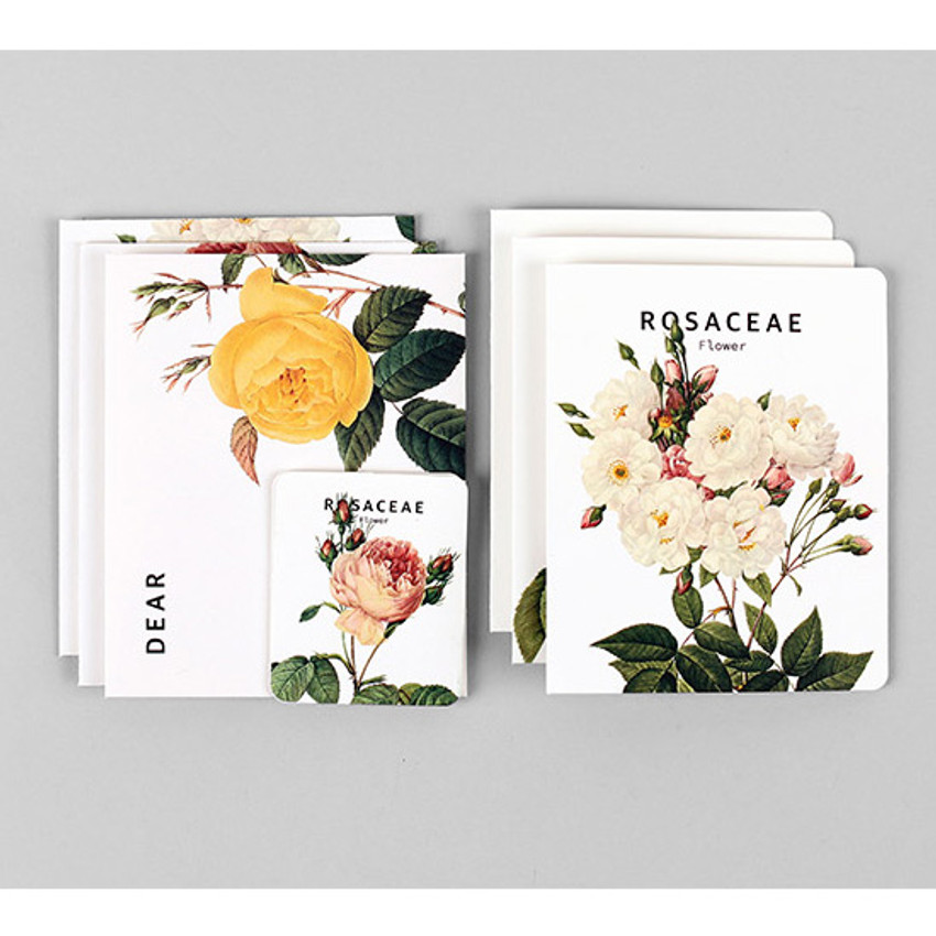 Flower illustration card set