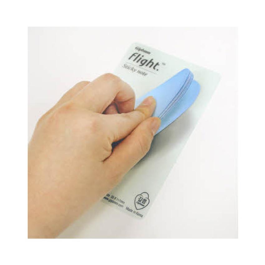 Flight blue sticky memo notes