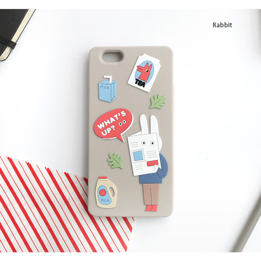 Rabbit - Brunch brother cute jelly iPhone 6/6S case