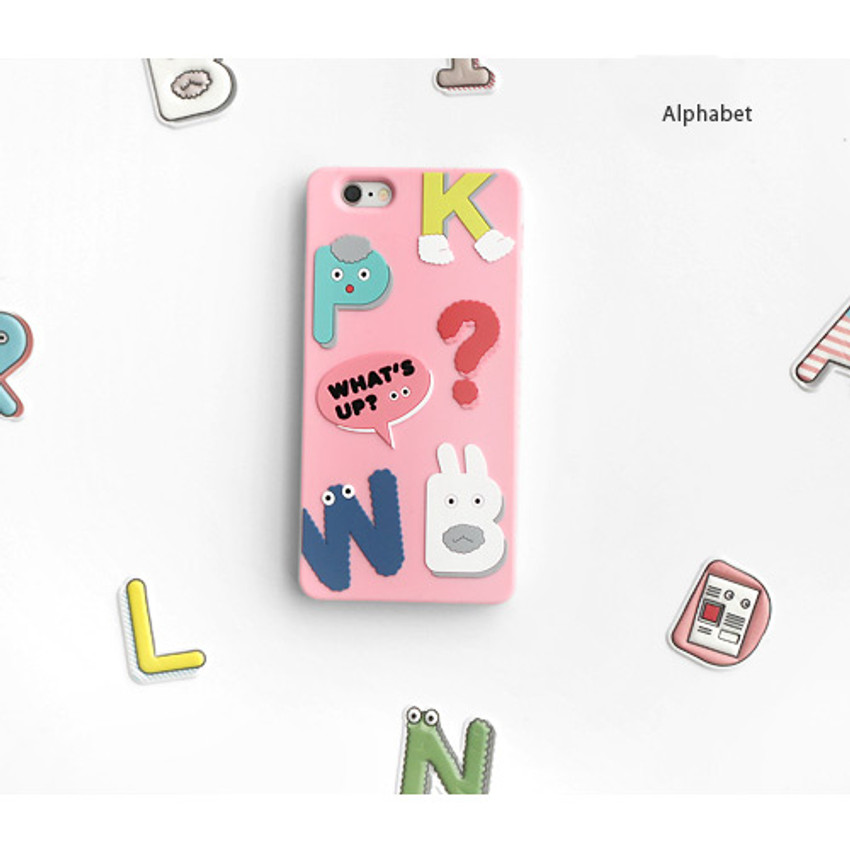 Alphabet - Brunch brother cute jelly iPhone 6/6S case
