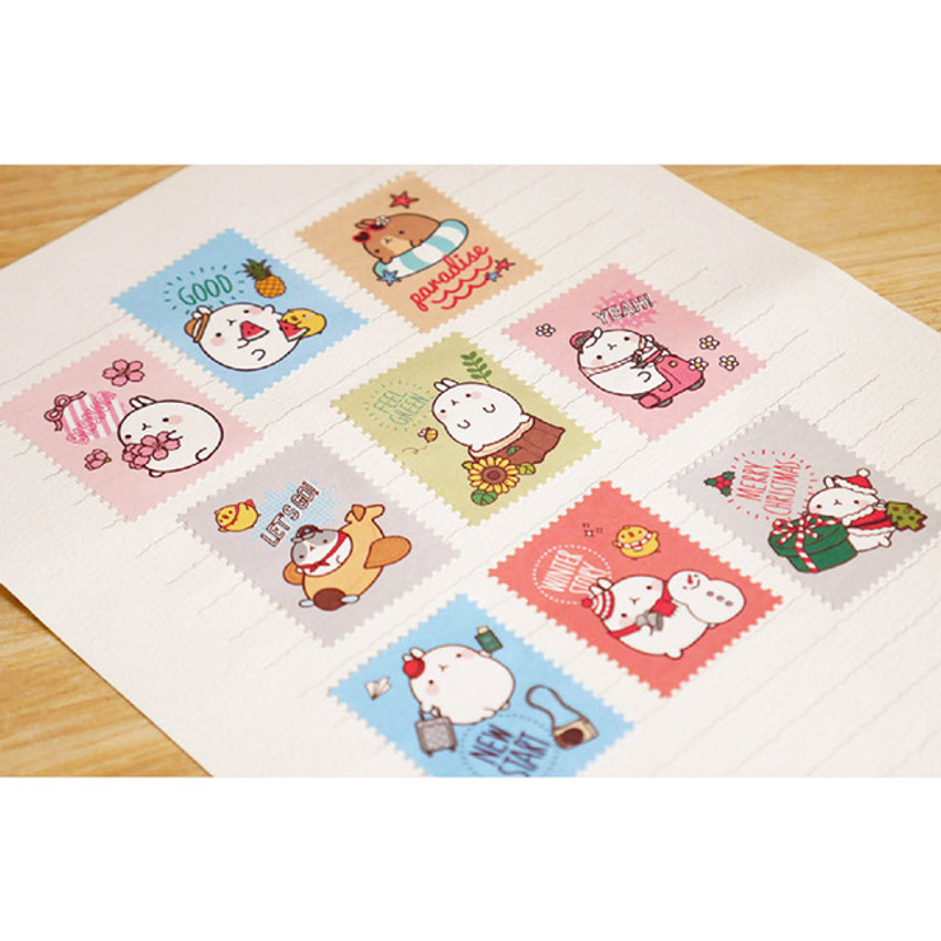 Stamp paper stickers