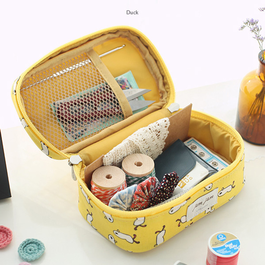 Duck - Jam Jam cute illustration make up cosmetic pouch