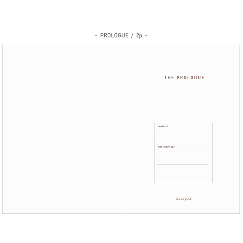 Prologue - The first edition hardcover notebook