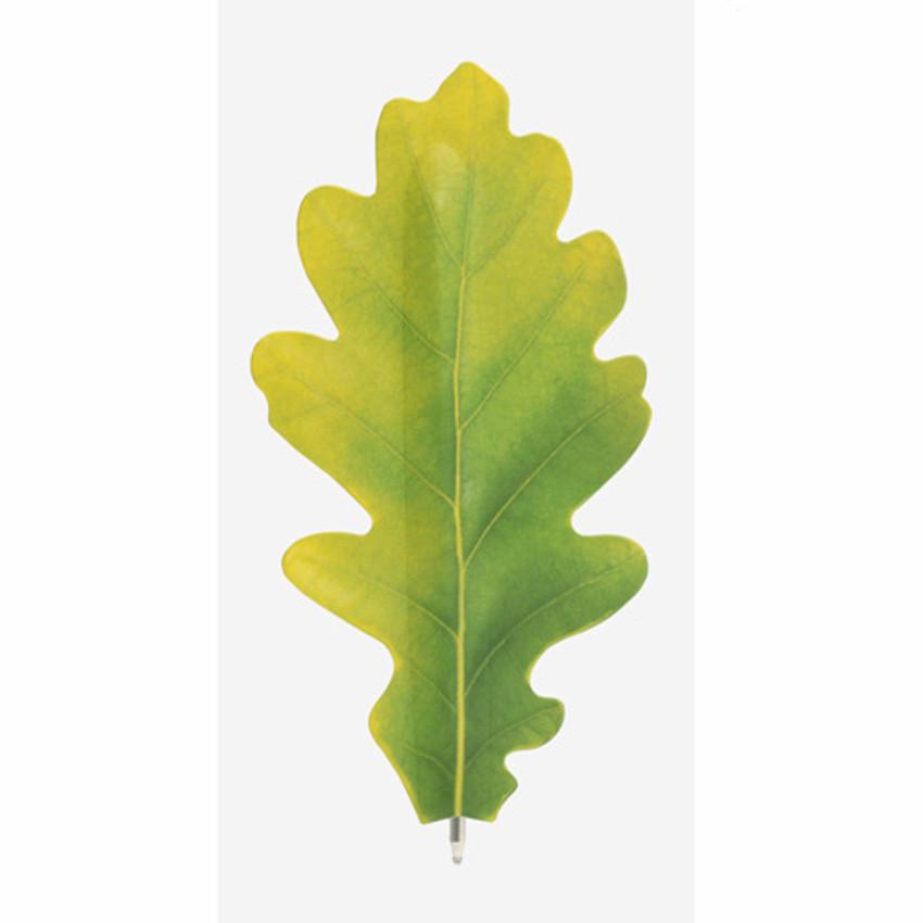 Acorn green leaf bookmark black ballpoint pen