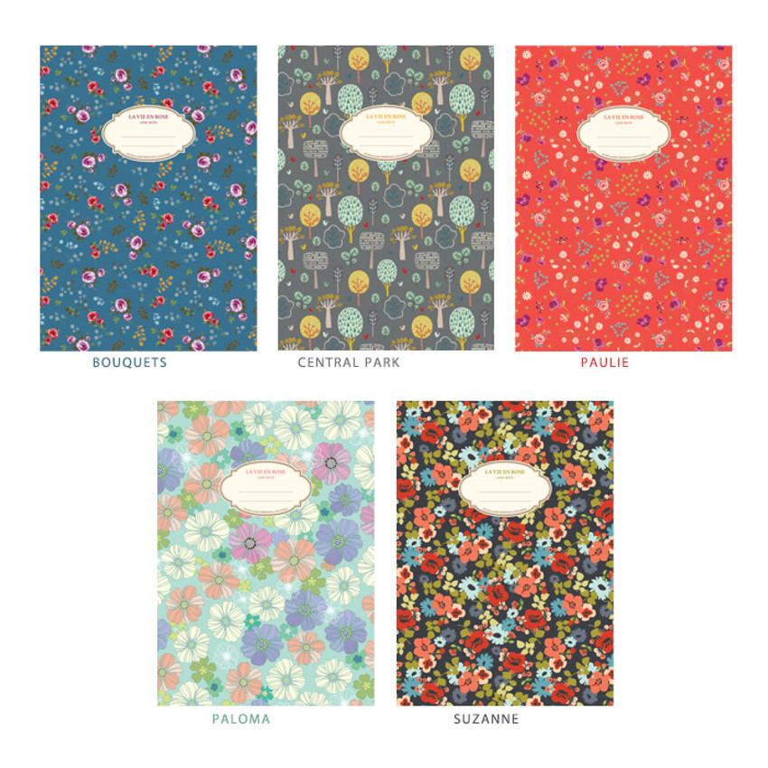La vie en rose B5 size lined notebook