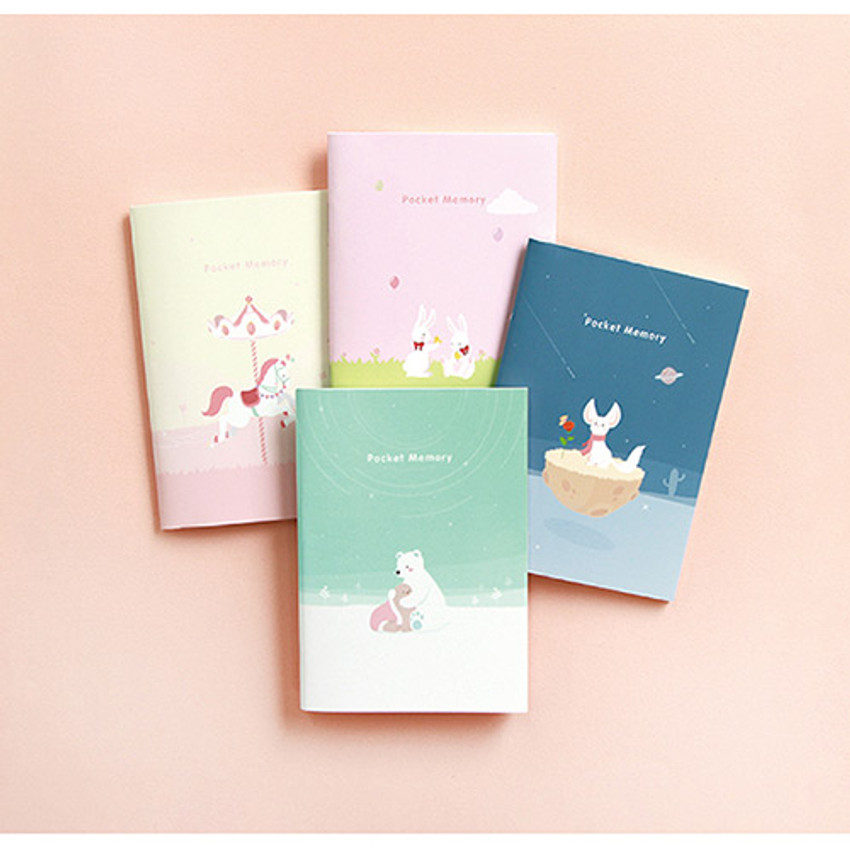 Animal friends memory lined and plain small notebook