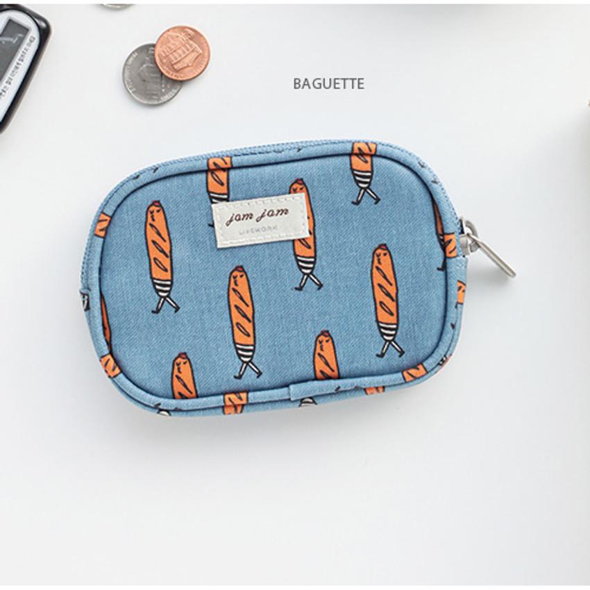Baguette - Jam Jam pattern card case pouch