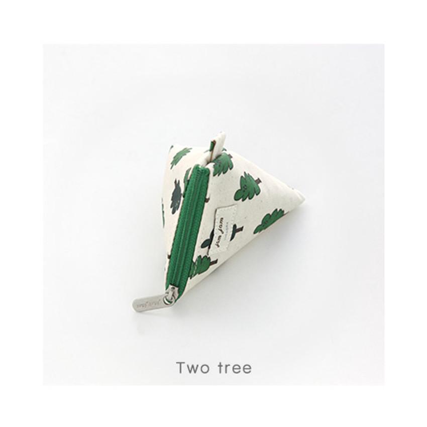 Two tree - Jam Jam pattern triangle zipper pouch