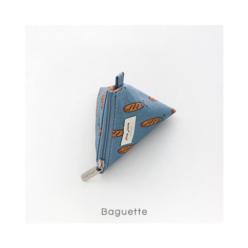 Baguette - Jam Jam pattern triangle zipper pouch