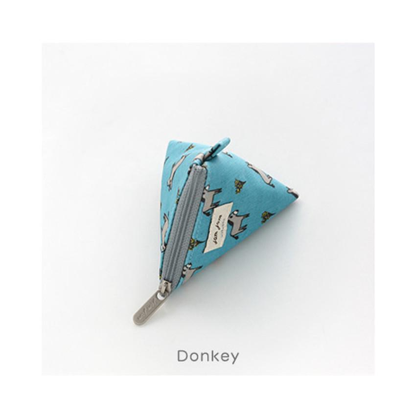 Donkey - Jam Jam pattern triangle zipper pouch