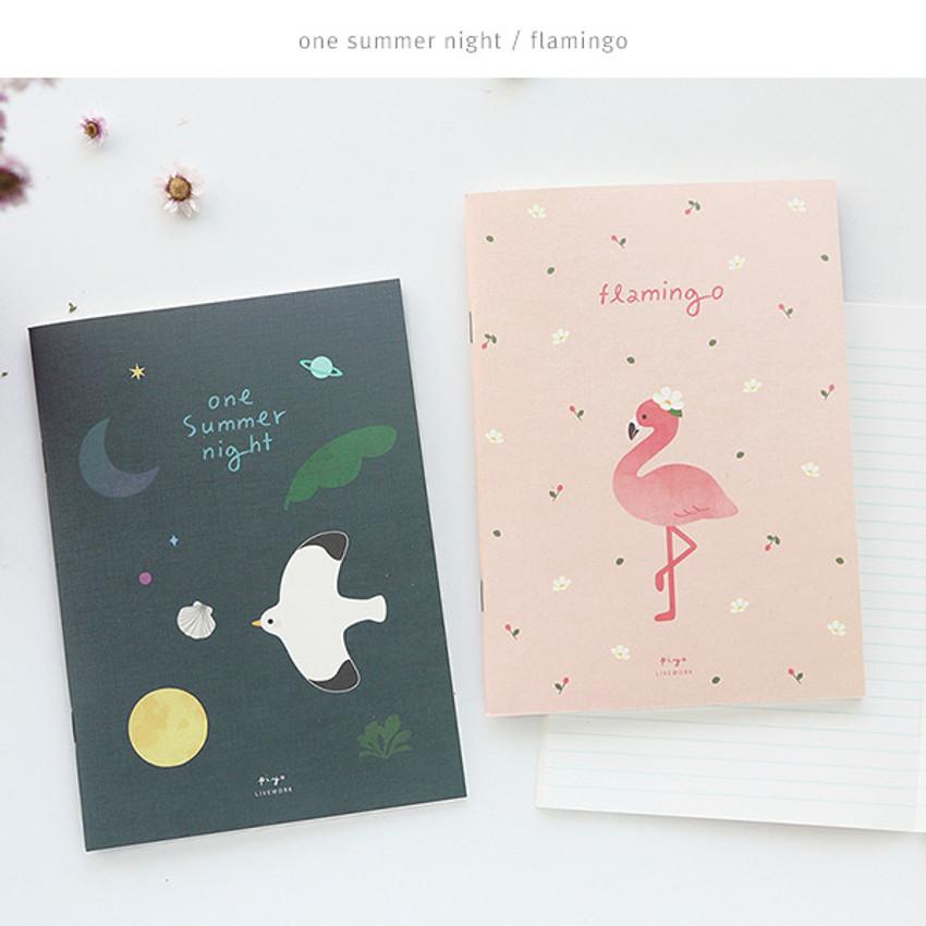 One summer night, Flamingo