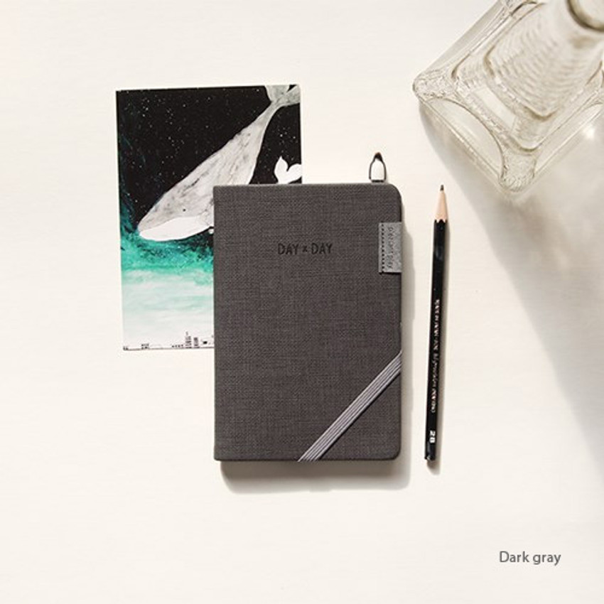 Dark gray - Day by Day small notebook