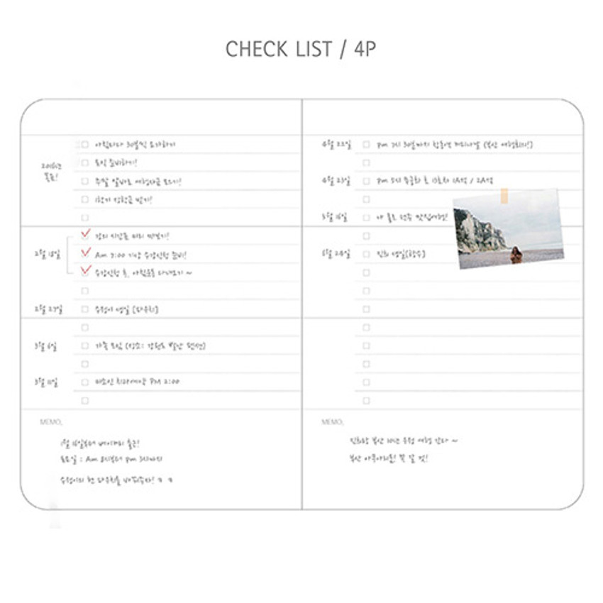 Check list - Day by Day small notebook