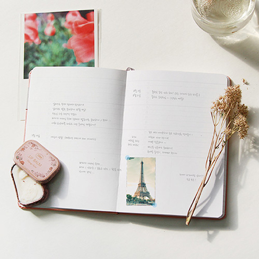 Check list - Day by Day large lined and grid notebook