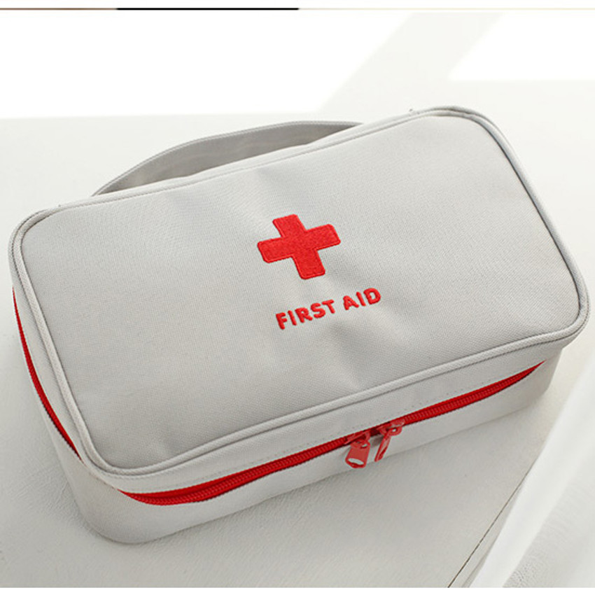 Gray - Le around first aid zip around large pouch