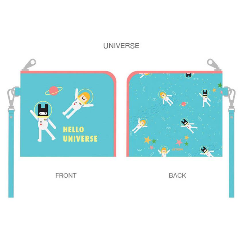Universe - Hello half zip around wallet