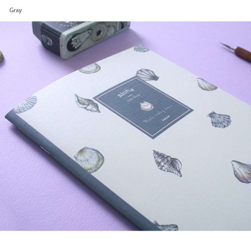 Gray - Make today better aloha lined notebook