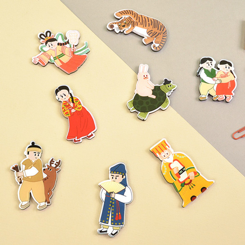 Korean fable magnet set