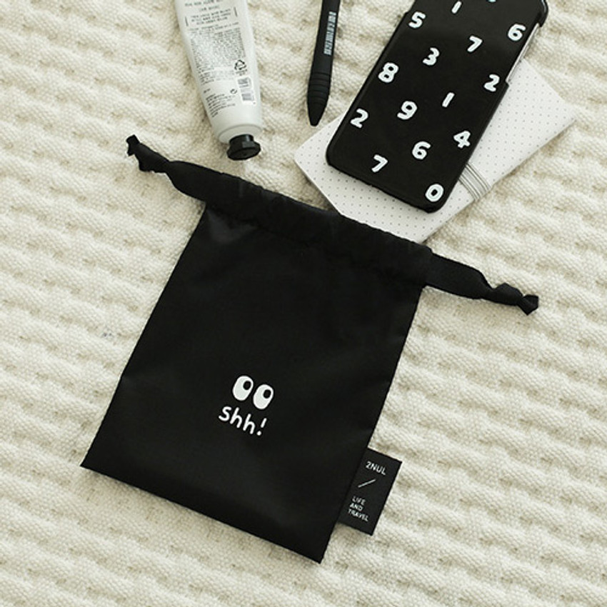 Shh - Life and travel secret drawstring small pouch