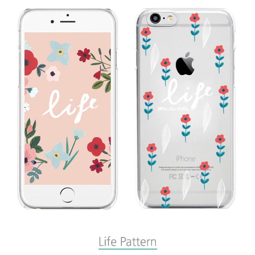 Life pattern - Rim TPU soft iPhone 6 plus case