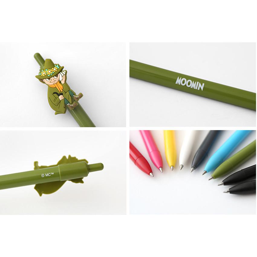 Detail of Moomin black gel pen 0.4mm