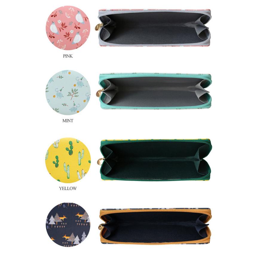 Willow pattern classic slim pencil case