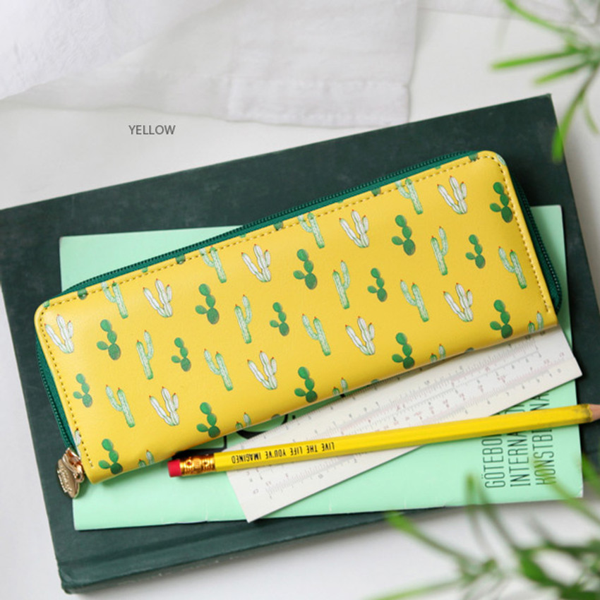 Yellow - Willow pattern classic slim pencil case
