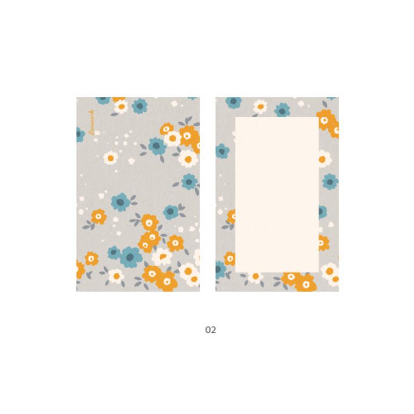 02 - Cute illustration message card set