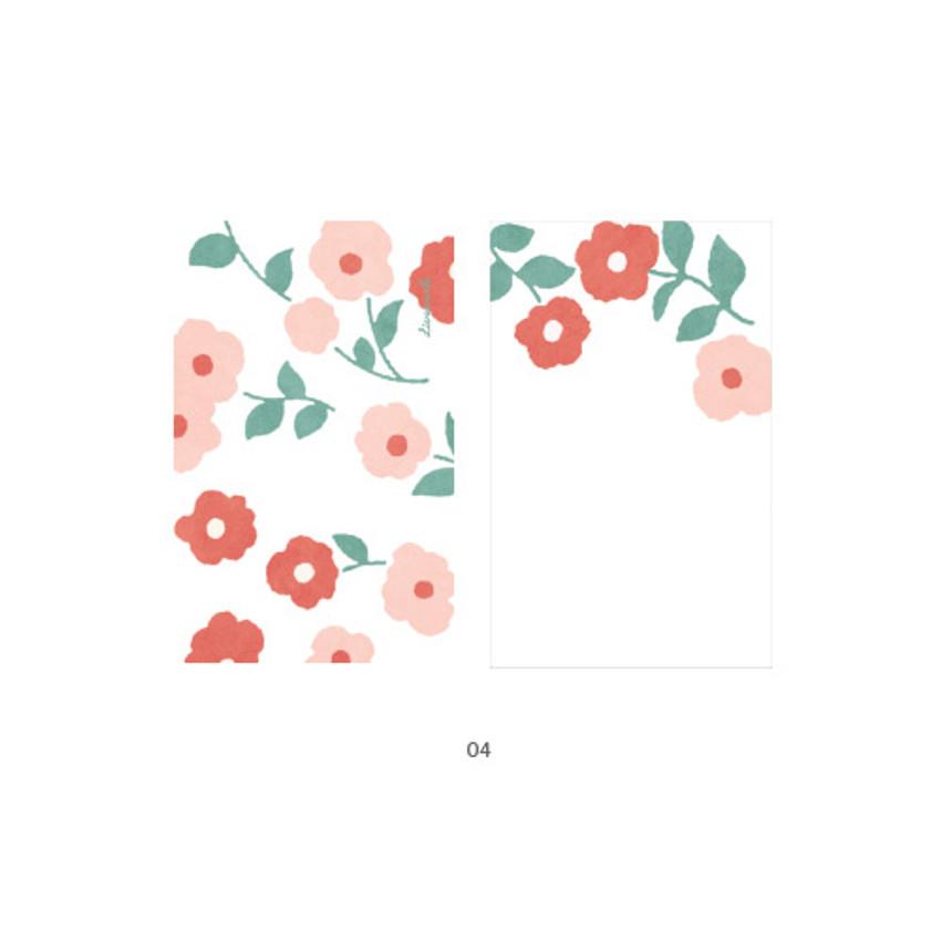 04 - Cute illustration message card set
