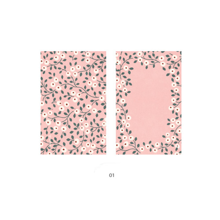 01 - Cute illustration message card set