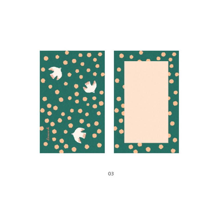 03 - Cute illustration message card set