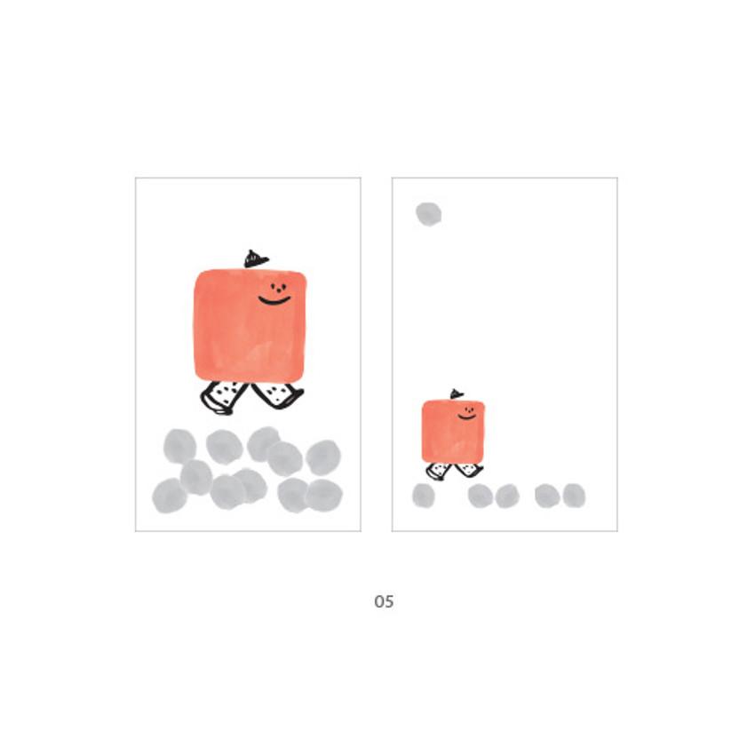 05 - Cute illustration message card set
