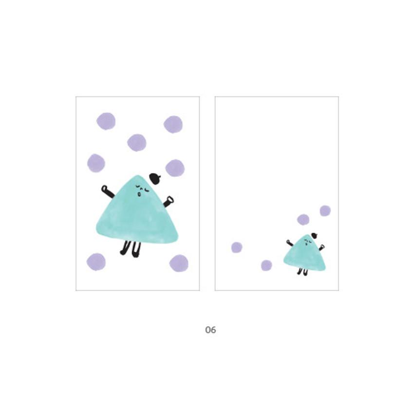 06 - Cute illustration message card set