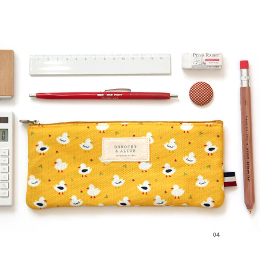 04 - Dorothy and Alice poly zipper pencil pouch
