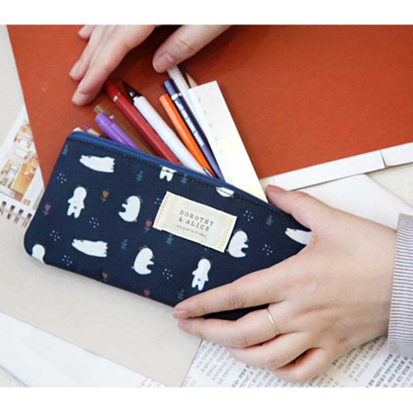 Dorothy and Alice poly zipper pencil pouch