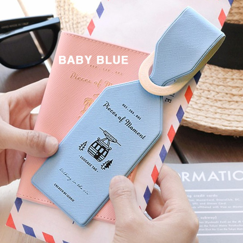 Baby blue - Piece of moment travel luggage name tag