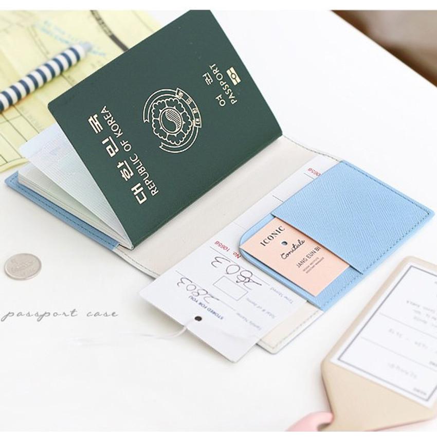 Piece of moment RFID blocking travel passport case