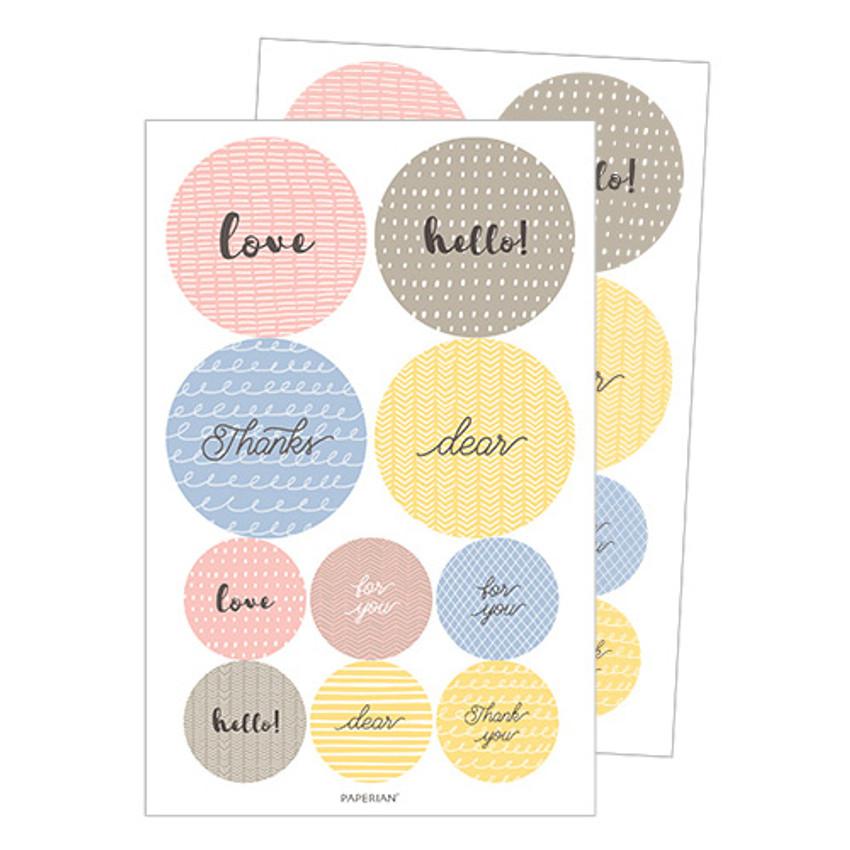 Pattern message deco stickers