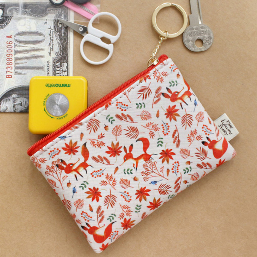 Maple - Willow story pattern coin case wallet