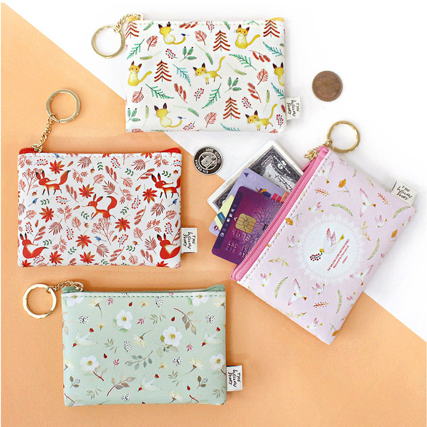 Willow story pattern coin case wallet