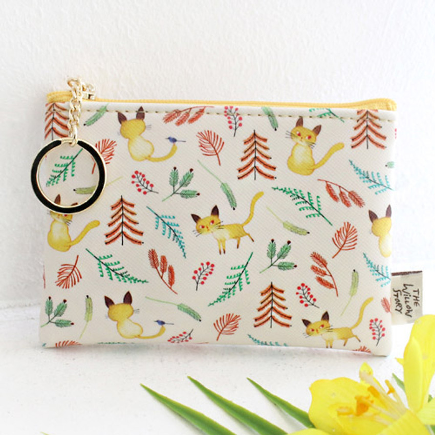 Yellow - Willow story pattern coin case wallet