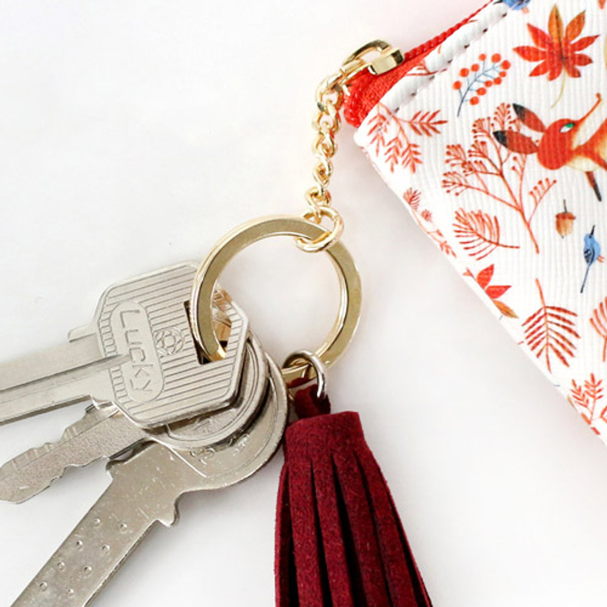 Key ring - Willow story pattern coin case wallet