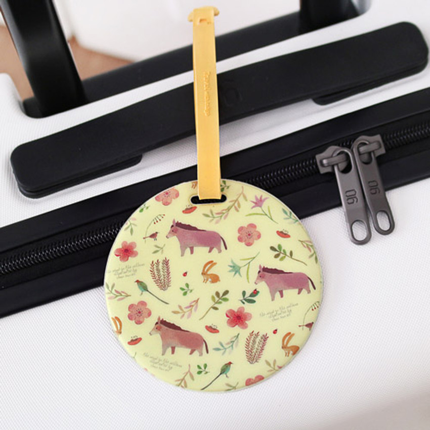 Yellow - Willow story pattern travel luggage name tag