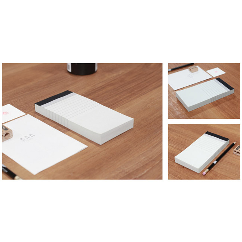 Natural and Pure check list lined notepad