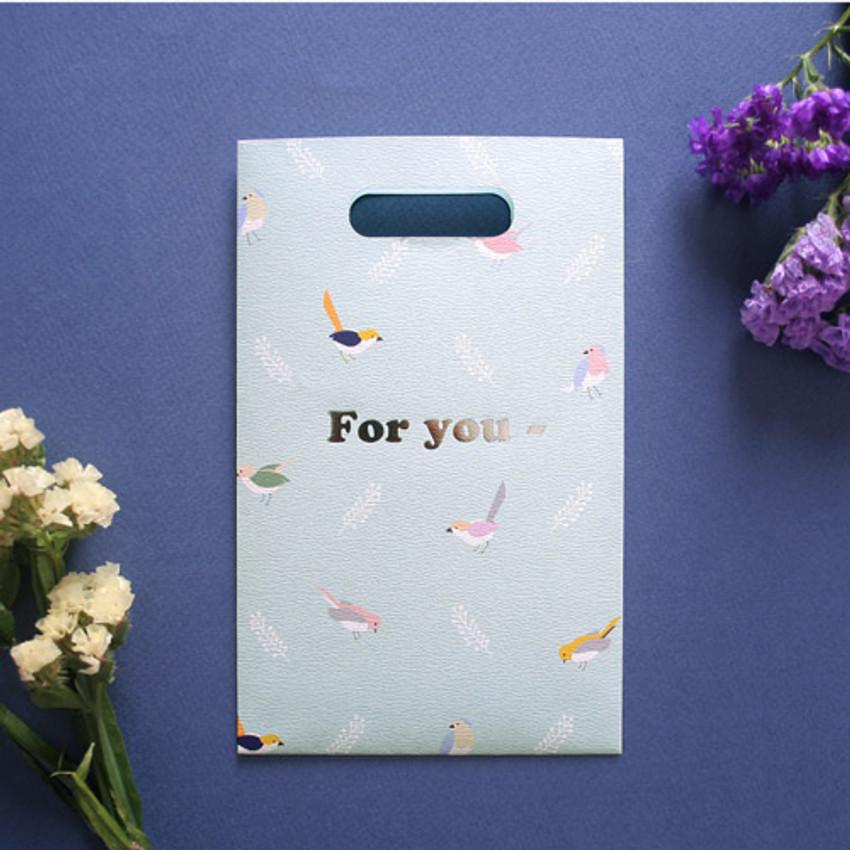 Mint - illustration paper bag set